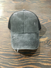 Load image into Gallery viewer, Criss Cross Back Distressed Ball Cap