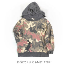 Load image into Gallery viewer, Cozy in Camo Hoodie