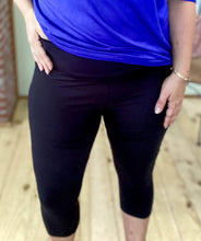 Load image into Gallery viewer, My Perfect Black Capri Leggings