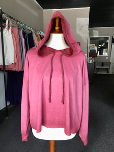 On Wednesday's Pink Crop Hoodie