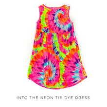Load image into Gallery viewer, Into the Neon Tie Dye Dress