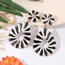 Load image into Gallery viewer, My Layered Black & White Earrings