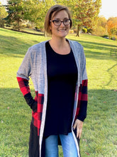 Load image into Gallery viewer, Perfect in Plaid Cardigan