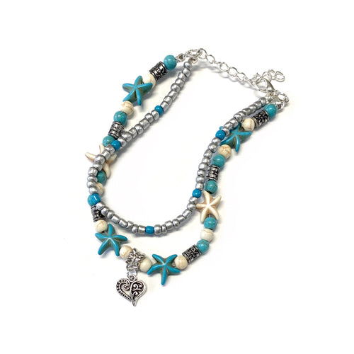 My Heart Ocean Breeze Anklet