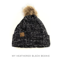 Load image into Gallery viewer, My Heathered Black Beanie