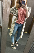 Load image into Gallery viewer, Cheetah Stripe Cardigan