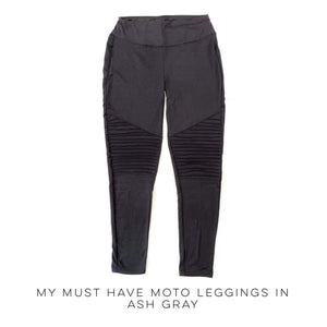 My Must Have Moto Leggings in Ash Gray