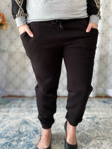 The Comfy Cozy Black Joggers