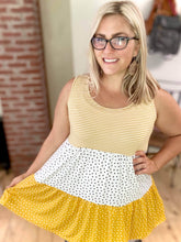 Load image into Gallery viewer, Polka Dotted in Gold Tunic