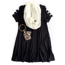 Load image into Gallery viewer, Swinging Away Tunic in Black