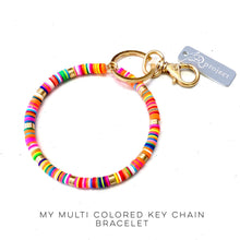 Load image into Gallery viewer, My Multi Colored Key Ring Bracelet