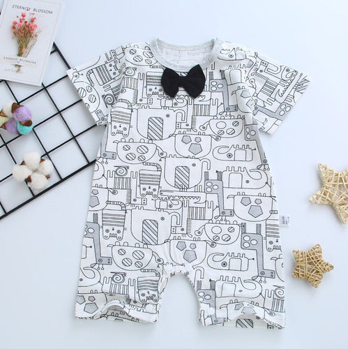 Boy Bow Animal Romper