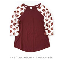 Load image into Gallery viewer, The Touchdown Raglan Tee