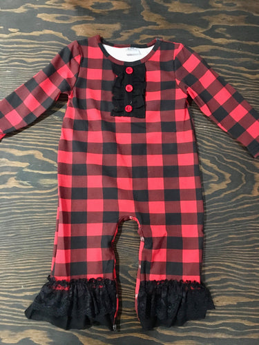 Red + Black Buffalo Plaid Jumper