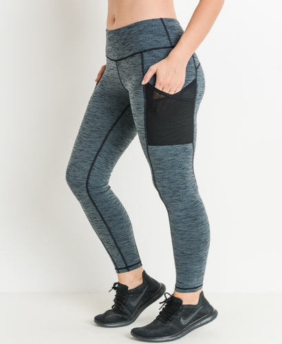 Gray Pocket Leggings