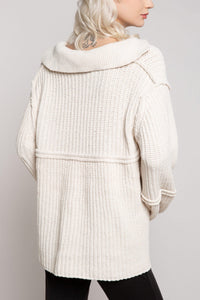 Let It Snow Chenille Sweater in Cream