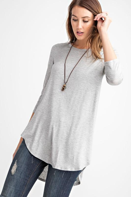 My Must Have Basic Tee in Heathered Gray