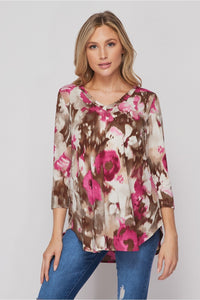 Made For Magenta Floral Honey Me Top
