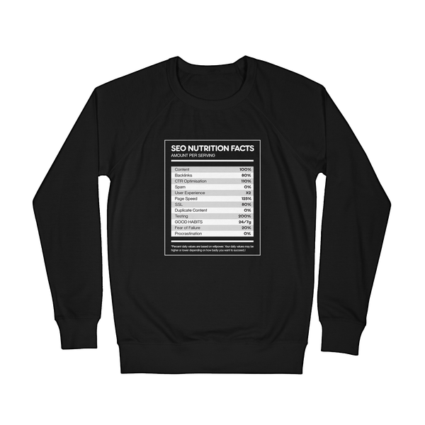 SEO Nutrition Facts - Sweater
