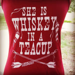She is Whiskey in a Teacup Outlaw Exclusive Graphic Tank