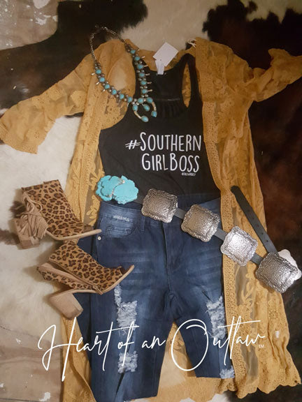 SOUTHERN GIRL BOSS HEART OF AN OUTLAW EXCLUSIVE TANK