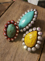 Sookie Sookie Hand Made Clay & Bling Statement Rings