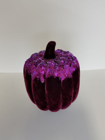 PURPLE/ BLACK VELVET PUMPKIN