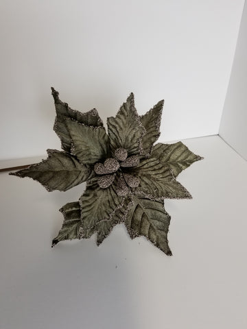 "26"" BROWN VELVET POINSETTIA"