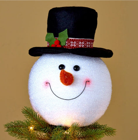 SNOWMAN TREE TOPPER 8IN X 11.5 IN