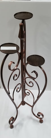 "30"" COPPER BRUSHED METAL CANDLE HOLDER"