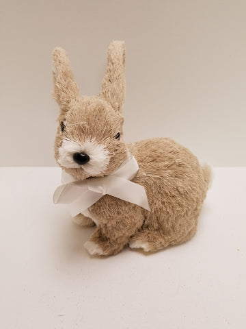 GRASS BUNNY WITH BOW 8""