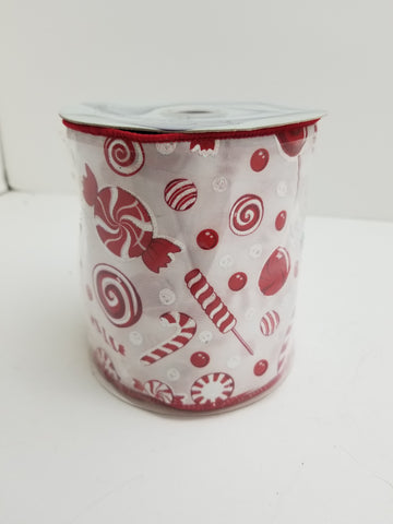 4X10 PEPPERMINT CANDY RIBBON