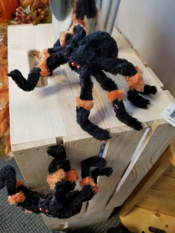 "8"" FUZZY SPIDER BLK/ORANGE"