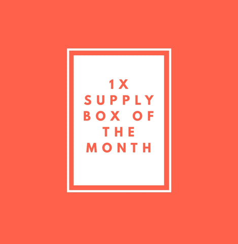 MONTHLY SUPPLY BOX  1 TIME ORDER