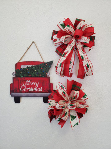 MERRY CHRISTMAS TRUCK  BOW/SIGN KIT