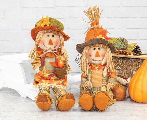 AUTUMN CROPS SCARECROW DANGLE LEG 2 ASST.