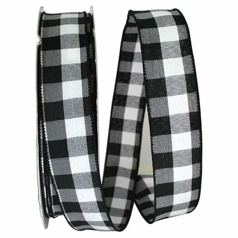1.5 X 50 CELINE PLAID TWILL WIRED EDGE