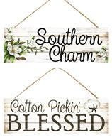 15X5 SOUTHERN CHARM/COTTON PICKIN SIGN