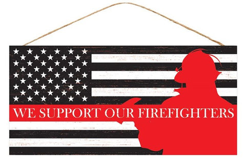 "12.5""Lx6""H Support Firefighters W/Image"