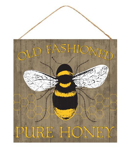 OLD FASHION PURE HONEY SIGN