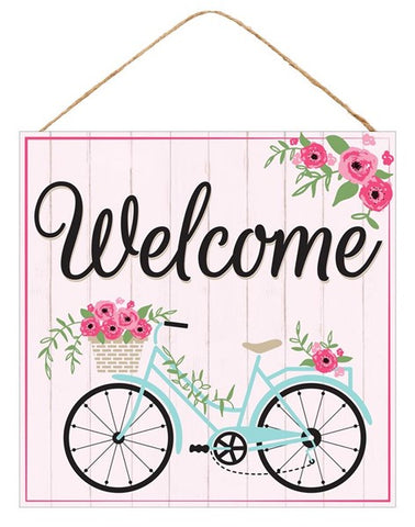 "10""SQ WELCOME/BICYCLE SIGN"