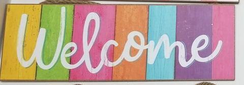 SPRING WELCOME SIGN
