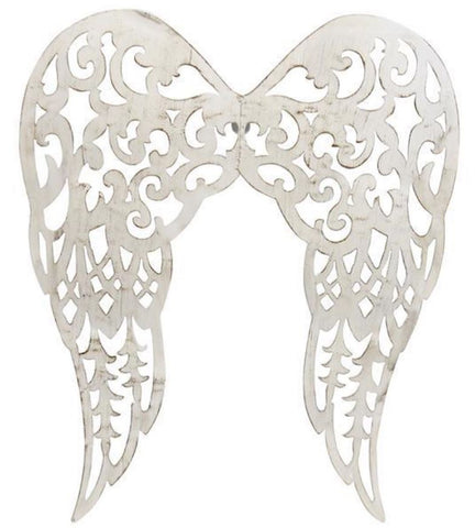 "17.75""H Metal Filigree Angel Wings"