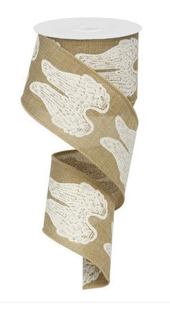 ANGEL WINGS RIBBON BEIGE 2.5 X 10