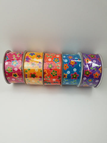 2.5X20 yd FLORAL DREAM  ASSORTED COLORS
