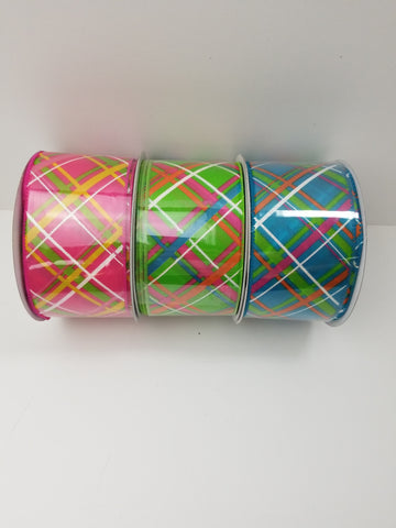 ASSORTED SATIN CRISS CROSS 2.5X20