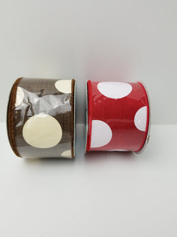 JUMBO DOT RIBBON 2.5X10