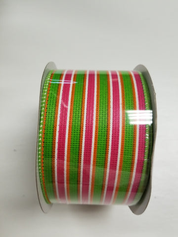 2.5X15 GREEN/FUCHSIA STRIPE