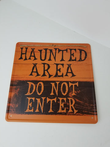 12X12 HAUNTED AREA SIGN