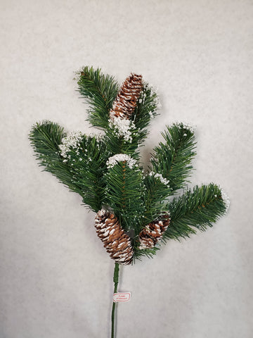 "18"" FROSTED PINECONE SPRAY"
